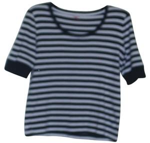 Jones New York T Shirt Navy & white