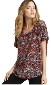 Joie Top Red Leopard Print