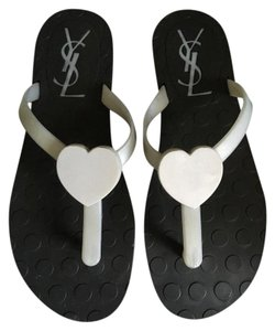Saint Laurent Travel Beach Grey Sandals