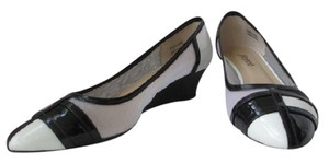 J. Renee Vegan Black and White Pumps