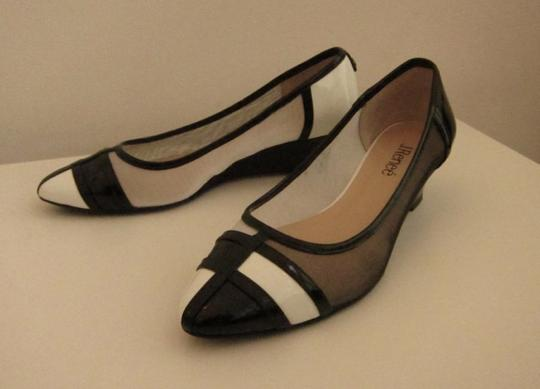 J. Renee Vegan Black and White Pumps Image 11