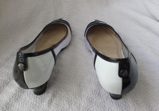 J. Renee Vegan Black and White Pumps Image 2