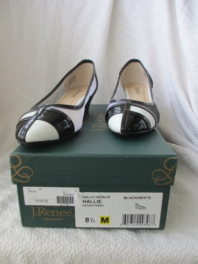 J. Renee Vegan Black and White Pumps Image 3