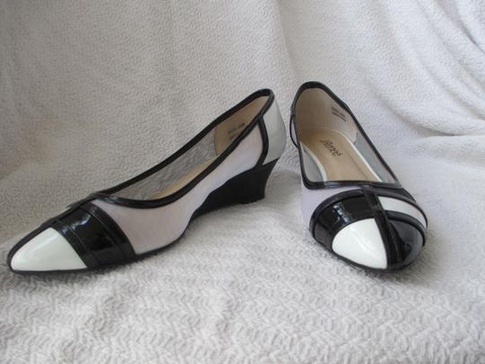 J. Renee Vegan Black and White Pumps Image 4