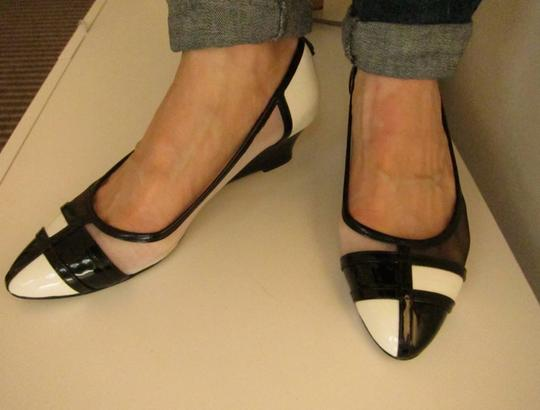 J. Renee Vegan Black and White Pumps Image 5