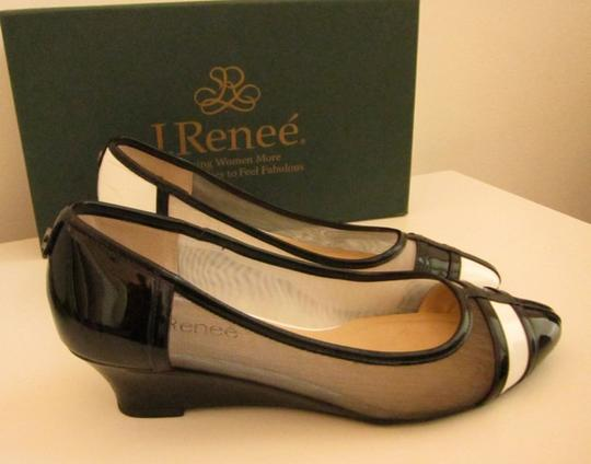 J. Renee Vegan Black and White Pumps Image 7