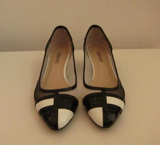 J. Renee Vegan Black and White Pumps Image 8