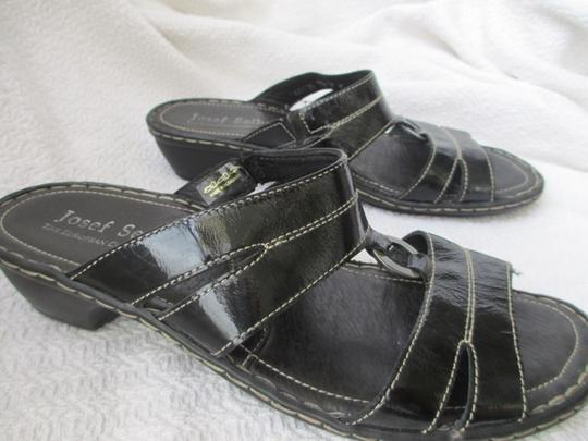 Josef Seibel Black Sandals Image 1
