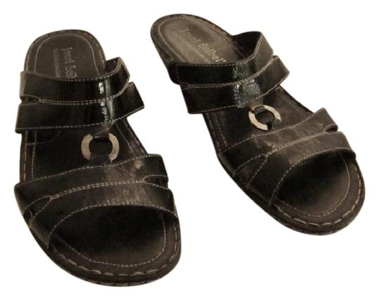Josef Seibel Black Sandals Image 4