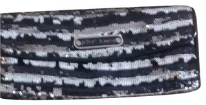 Betsey Johnson Black/silver Clutch