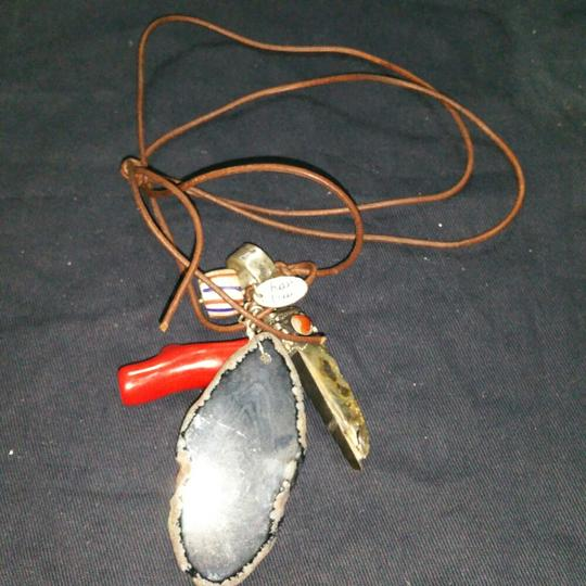 Chan Luu Leather necklace with charms Image 2