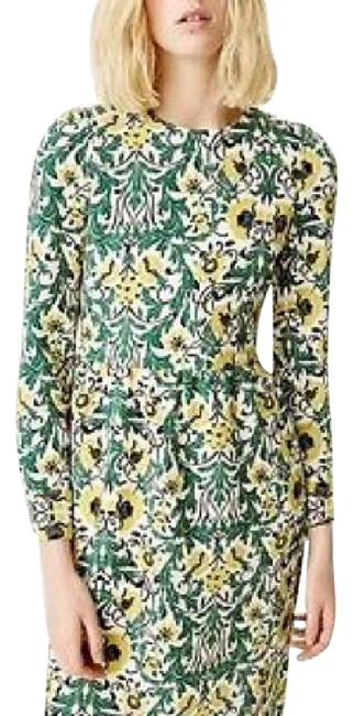 Zara Yellow /Green O Mid-length Short Casual Dress Size 8 (M) Zara Yellow /Green O Mid-length Short Casual Dress Size 8 (M) Image 1