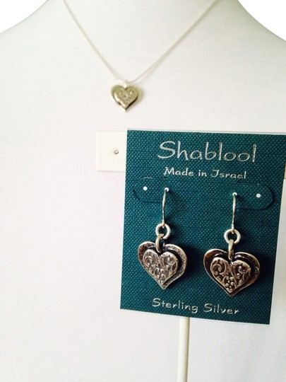 Shablool Silver Jewelry Design Shablool 2-Piece Set, Sterling Silver Scrolled Heart Set