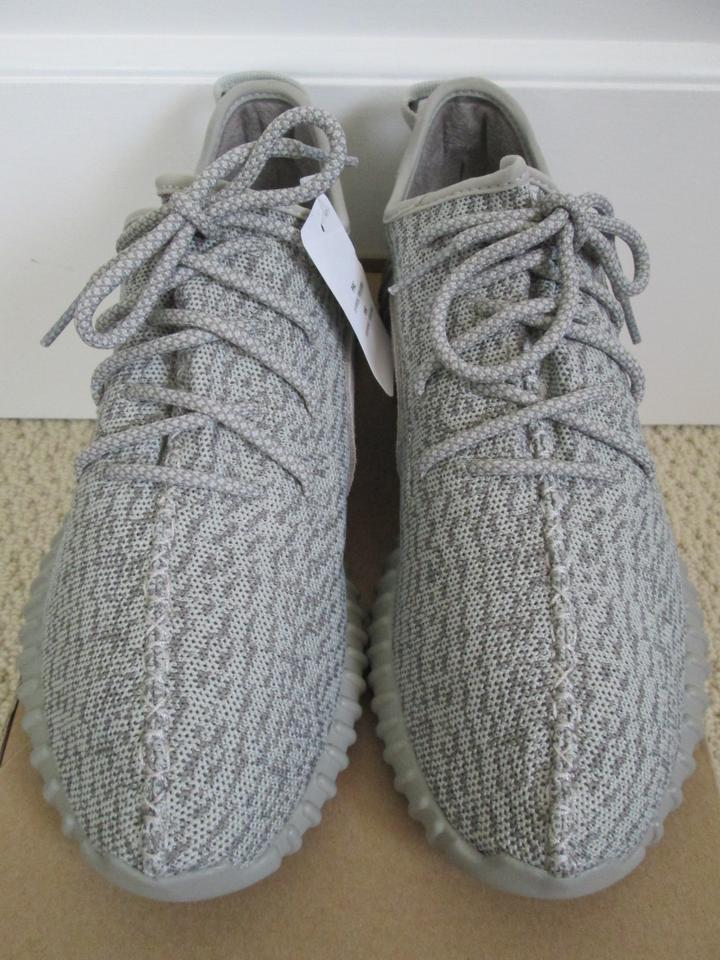 adidas X Yeezy Boost Sneakers Lace Up Gray Athletic Image 11.  123456789101112 9b2a363ef