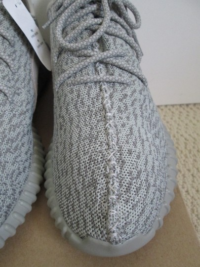 adidas X Yeezy Boost Sneakers Lace Up Gray Athletic Image 8