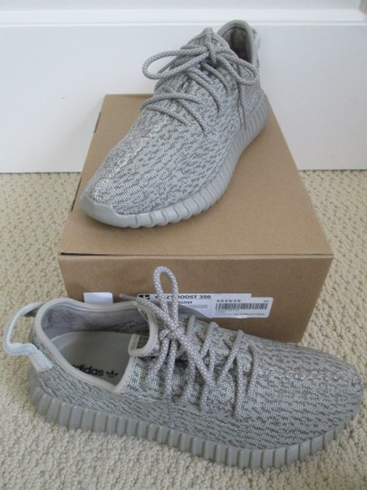 adidas X Yeezy Boost Sneakers Lace Up Gray Athletic Image 9