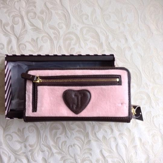 Juicy Couture Juicy Couture Pink Crest Heritage Couture Velour Wallet