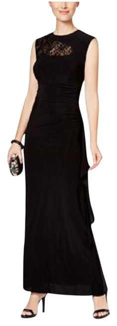 Preload https://img-static.tradesy.com/item/21533128/r-and-m-richards-black-sequined-lace-trim-ruched-gown-long-formal-dress-size-12-l-0-1-650-650.jpg