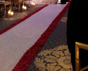 Rose Flower Petal Aisle Runner