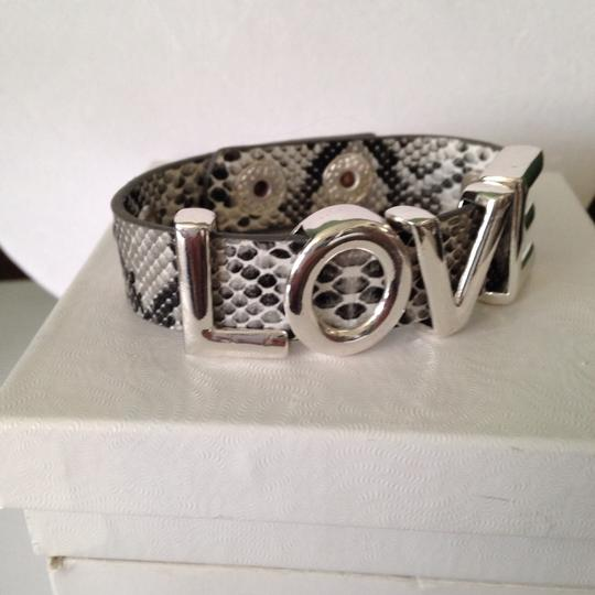 "Other ""LOVE"" Simulated Python Leather 2 Snap Beacelet"