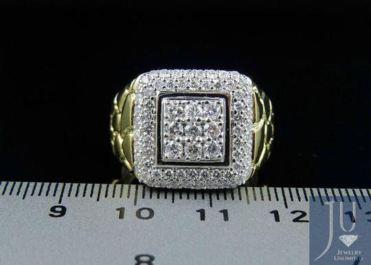 Jewelry Unlimited Men's Nugget Square Frame Genuine Diamond Engagement Ring 1.55CT Image 2