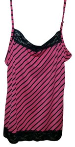 Maurices Top Red and Black Striped
