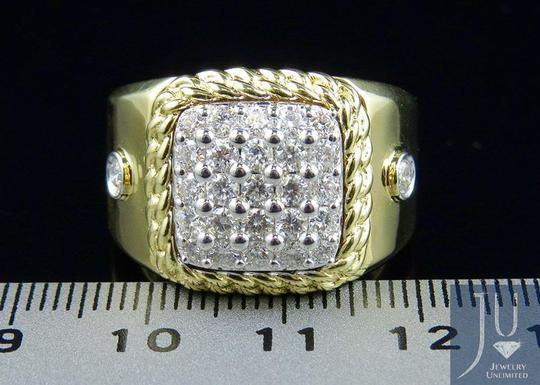 Jewelry Unlimited Men's Cuban Border Square Frame Real Diamond Pinky Ring 1.55CT Image 5