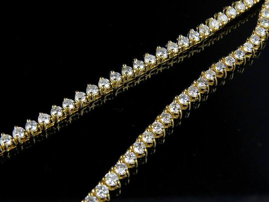 Jewelry Unlimited Martini Prong Set 1 Row 4 MM Diamond Chain Necklace 21 Ct Image 2