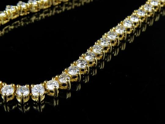 Jewelry Unlimited Martini Prong Set 1 Row 4 MM Diamond Chain Necklace 21 Ct Image 4