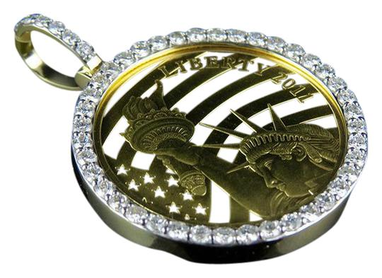 Preload https://img-static.tradesy.com/item/21533643/24k-yellow-gold-coin-lady-liberty-half-12-ounce-diamond-pendant-225-ct-charm-0-1-540-540.jpg