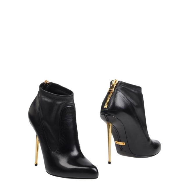 Item - Black Gold New with Zipper On The Boots/Booties Size US 7 Regular (M, B)