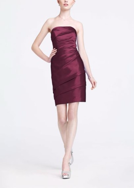 Item - Wine Satin F14212 Sexy Bridesmaid/Mob Dress Size 2 (XS)