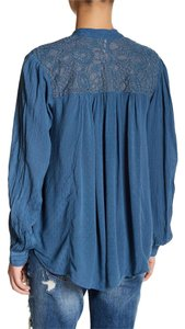 Free People Boho Embroidered Eclectic Top