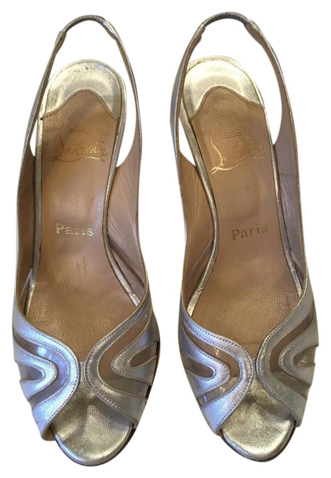 Christian Pumps Louboutin Silver Altaria 70 Pumps Christian 6b9561
