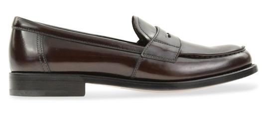 Prada Loafers Moccasin Brown Flats Image 0