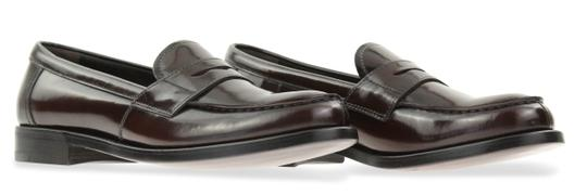 Prada Loafers Moccasin Brown Flats Image 1