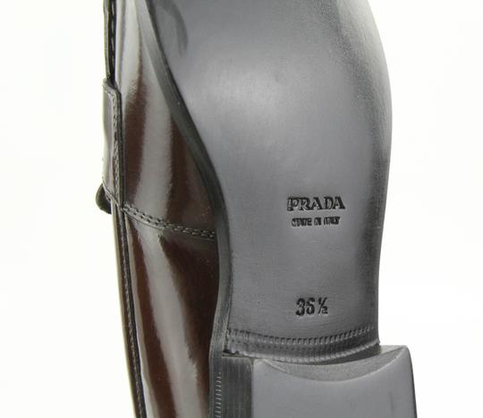 Prada Loafers Moccasin Brown Flats Image 10