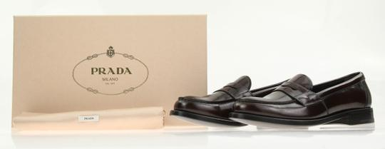 Prada Loafers Moccasin Brown Flats Image 11