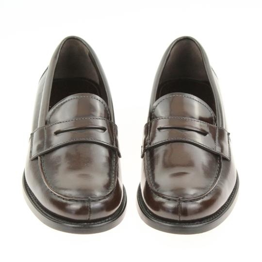 Prada Loafers Moccasin Brown Flats Image 4