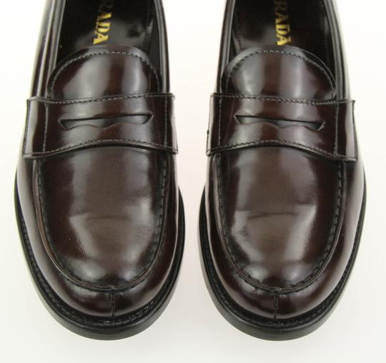Prada Loafers Moccasin Brown Flats Image 6