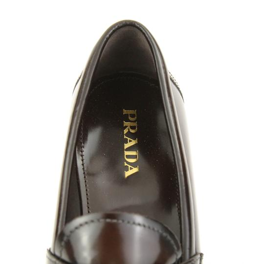 Prada Loafers Moccasin Brown Flats Image 7