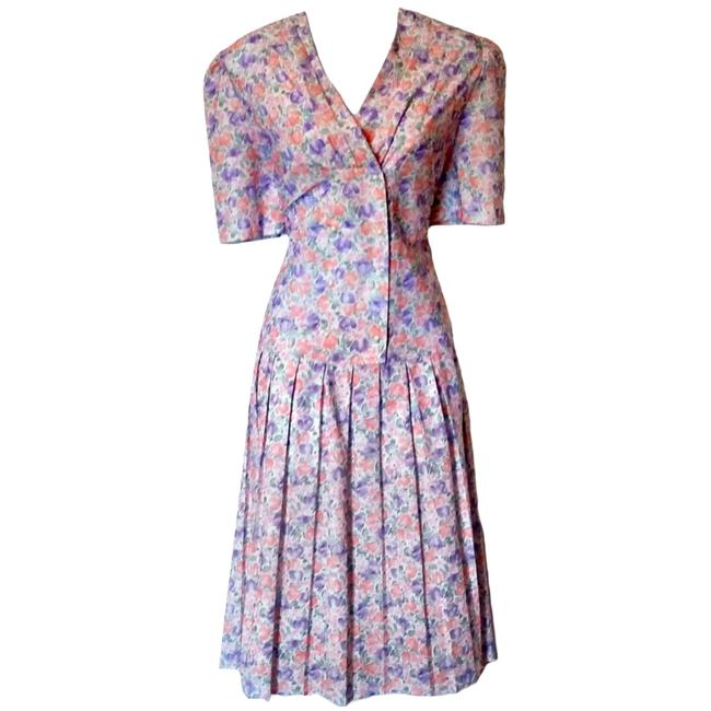 Preload https://img-static.tradesy.com/item/21534150/purple-floral-midi-70s-mididress-pastel-1970s-flowers-mid-length-short-casual-dress-size-10-m-0-2-650-650.jpg