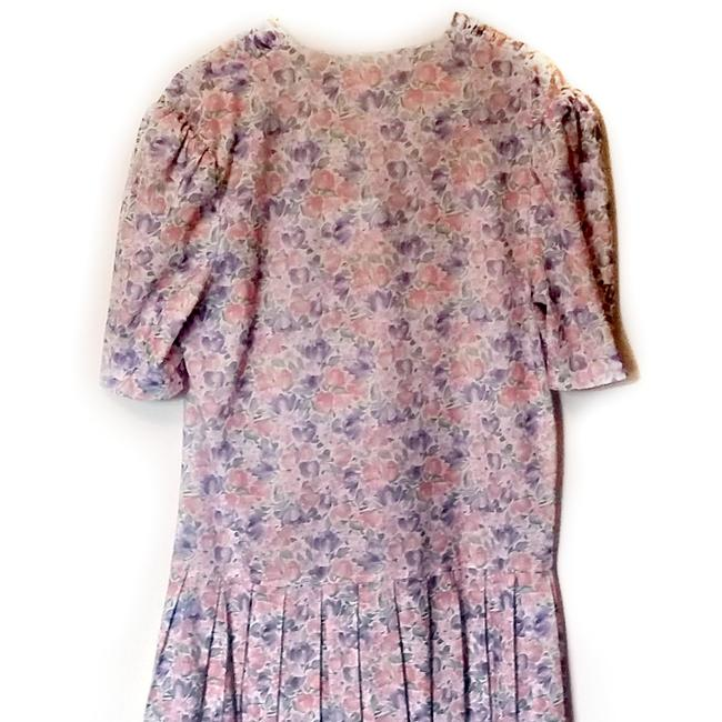 Vintage short dress Purple 70s Retro Floral Double Breasted on Tradesy Image 4