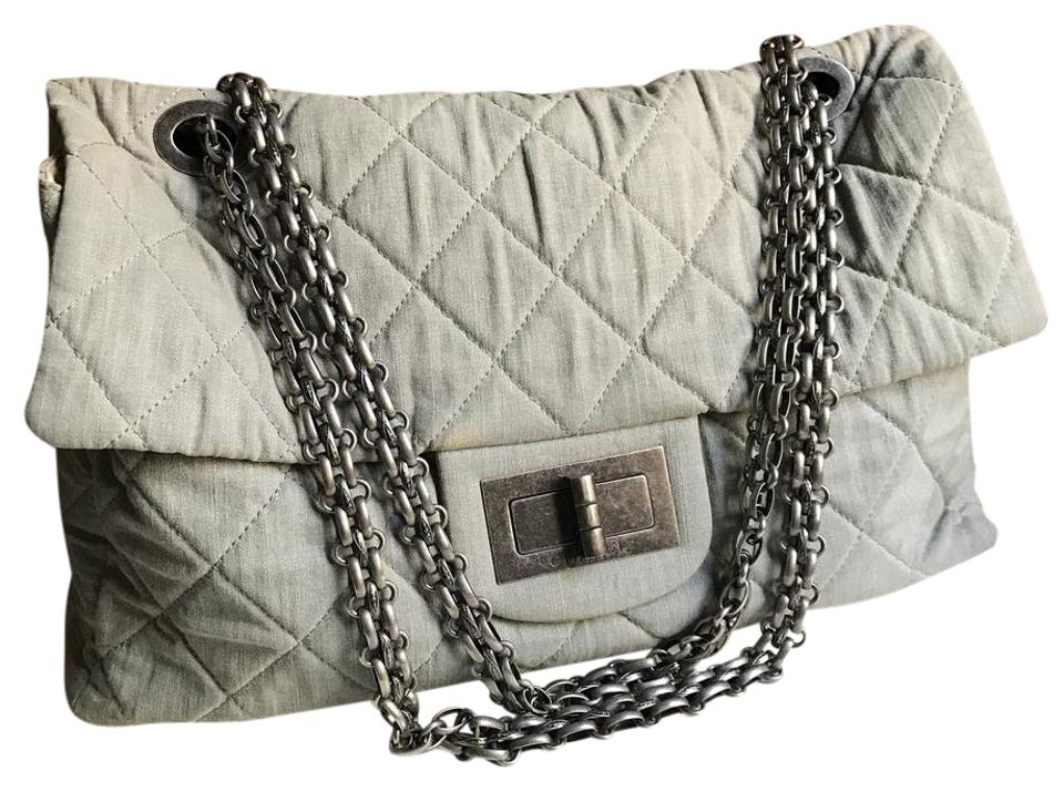d2e55f64ca18 Chanel Classic Flap 2.55 Reissue Xxl Grey Weekend/Travel Bag - Tradesy