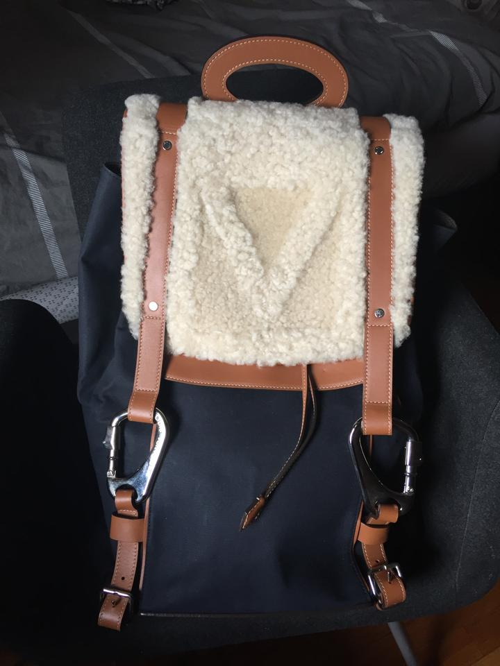 1d531351255d Louis Vuitton Limitededition Shearling Rare Backpack Image 10. 1234567891011