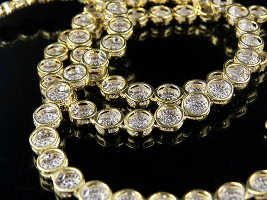 Other 10K Yellow Gold Real Diamond Cluster 6 MM Chain Necklace 9 ct 24