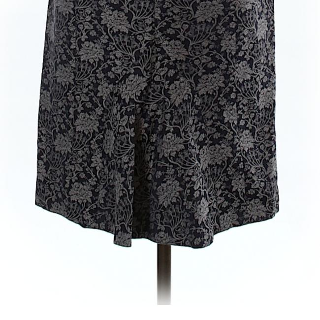 Ann Taylor Skirt Navy blue printed sheath with pleat in the back Image 1