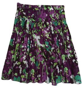 Old Navy Floral Spring Skirt Purple, green and white