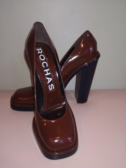 Rochas Brown Pumps Image 1