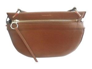 Louise et Cie Leather Gold Hardware Classic Cross Body Bag